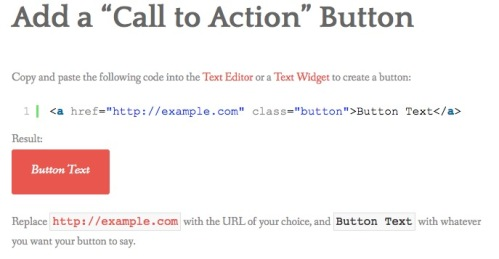 """Add a """"Call to Action"""" Button 