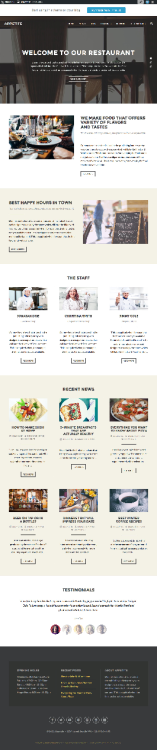 Appetite Appetite is a clean, flexible and fully responsive WordPress theme with special features for restaurants and cafes