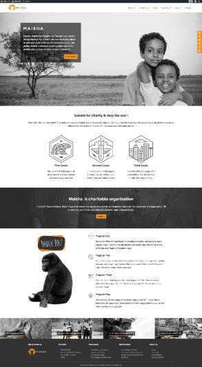Maisha Maisha is a beautiful charity WordPress theme inspired by Virunga documentary