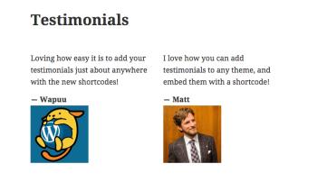 Testimonials Shortcode — Support — WordPress.com
