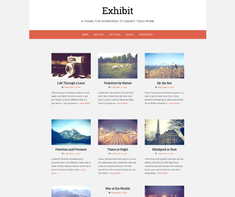Blog   Exhibit   A theme for businesses to exhibit their work