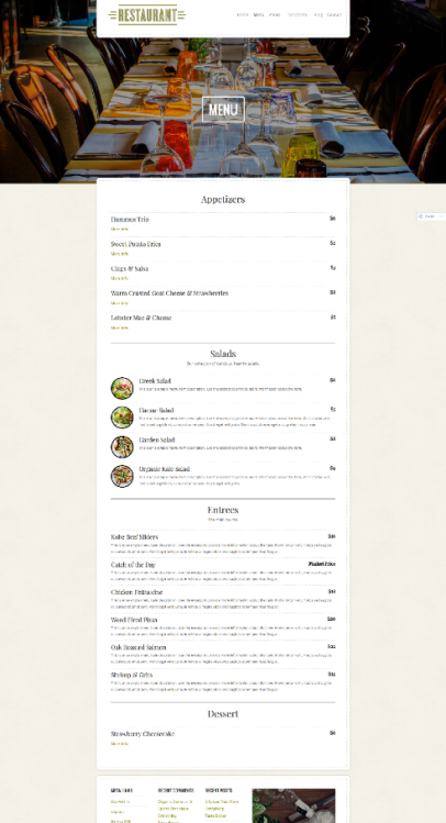 Menu | Restaurant