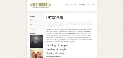 Left Sidebar | Restaurant