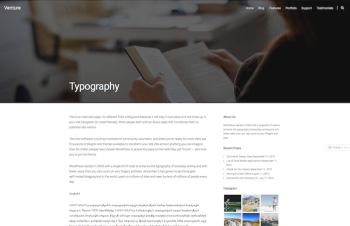 Typography | Venture
