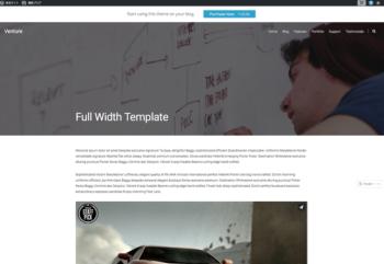 Full Width Template Venture