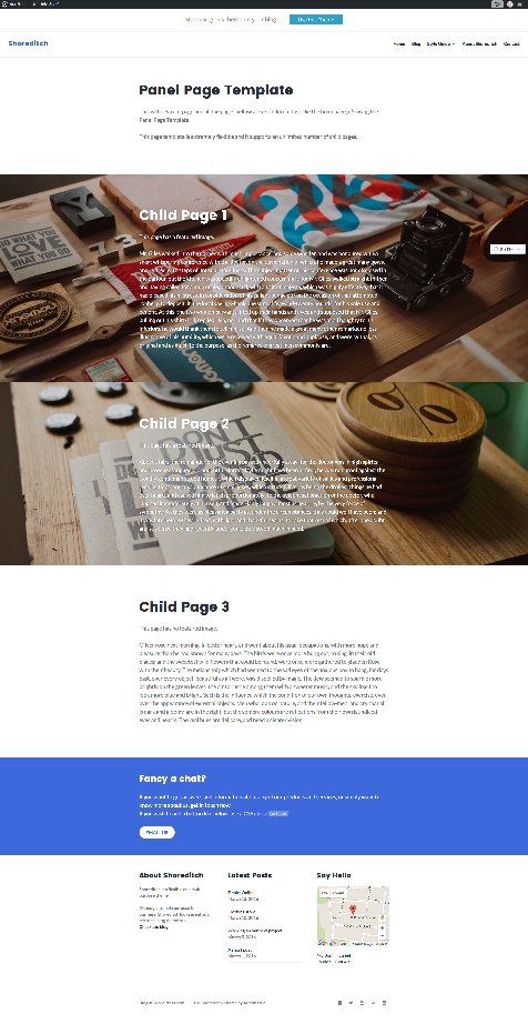 Panel Page Template – Shoreditch